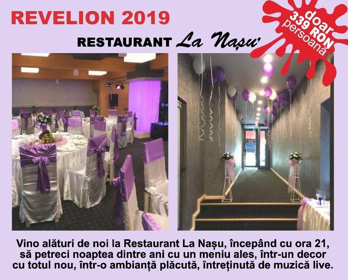 ORGANIZAM PETRECEREA DE REVELION 2019! Vino alături de noi la Restaurant La Nasu, începând cu ora 21:30, să petreci noaptea dintre ani cu un meniu ales, într-un decor cu totul nou, într-o ambianță plăcută, întreținută de muzică live.