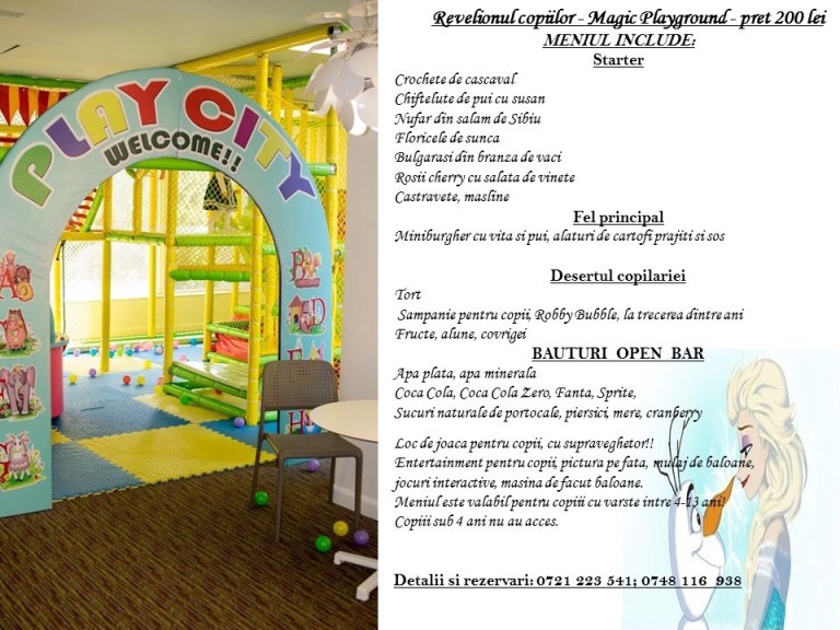 Revelionul Copiilor la Magic Playground by Hop Garden